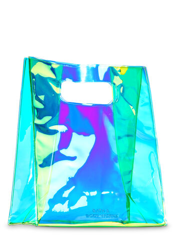 Green Iridescent Gift Bag - Bath And Body Works