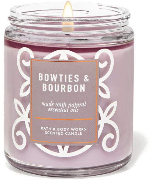 Bowties & Bourbon Single Wick Candle