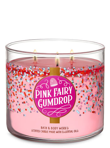 Pink Fairy Gumdrop 3-Wick Candle - Bath And Body Works