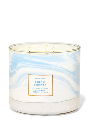 Linen Sheets 3-Wick Candle