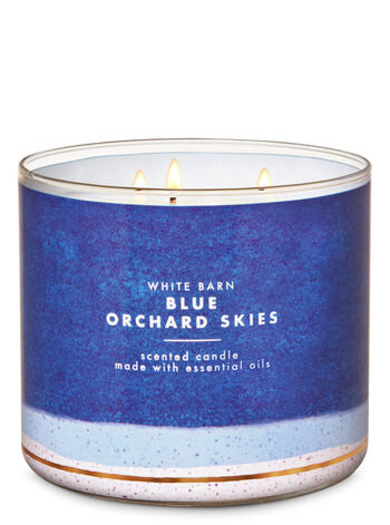 White Barn Blue Orchard Skies 3-Wick Candle - Bath And Body Works