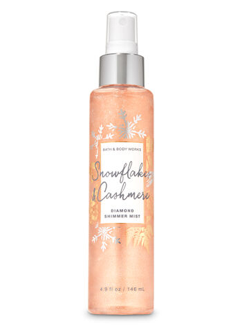 Snowflakes & Cashmere Diamond Shimmer Mist - Bath And Body Works