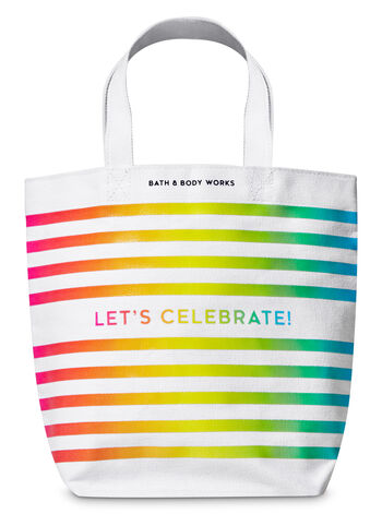 Let's Celebrate Canvas Gift Bag - Bath And Body Works