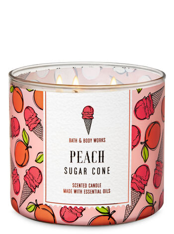 Peach Sugar Cone 3-Wick Candle - Bath And Body Works