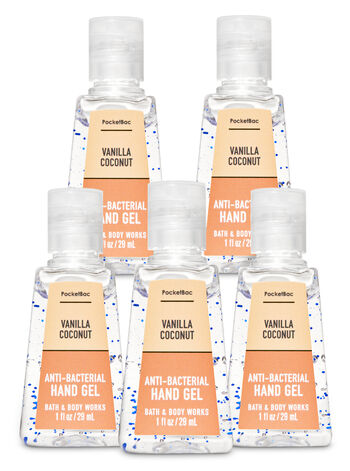 Vanilla Coconut PocketBac Hand Sanitizer, 5-Pack מארז 5 יחידות
