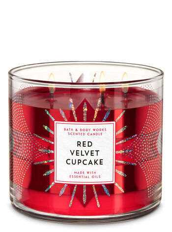 White Barn Red Velvet Cupcake 3-Wick Candle - Bath And Body Works