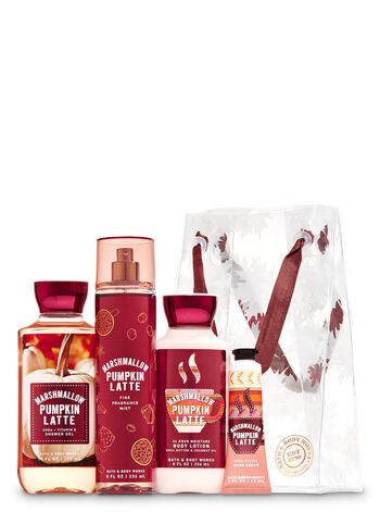Marshmallow Pumpkin Latte Leaf Gift Bag Set - Bath And Body Works