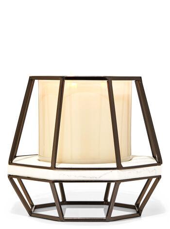 Geometric Pedestal 3-Wick Candle Holder