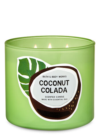 Coconut Colada 3-Wick Candle - Bath And Body Works