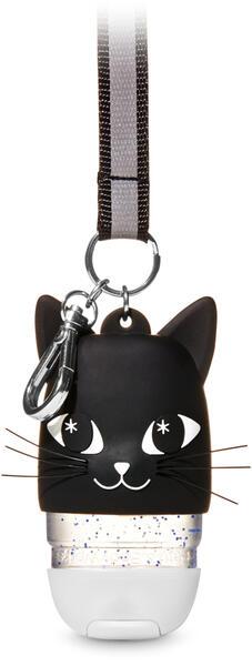 Black Cat Lanyard Light-Up PocketBac Holder