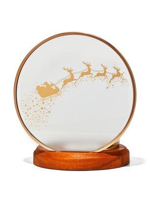 Santa & Reindeer Single Wick Candle Holder