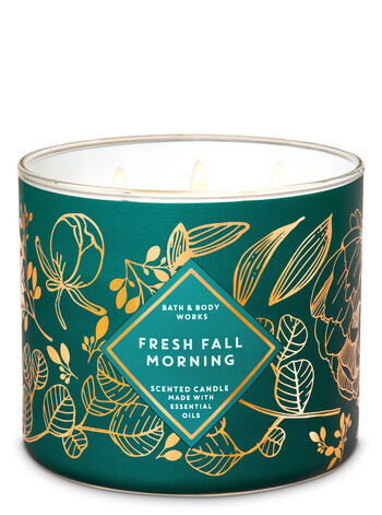 Fresh Fall Morning 3-Wick Candle - Bath And Body Works