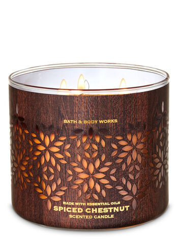 Spiced Chestnut 3-Wick Candle - Bath And Body Works