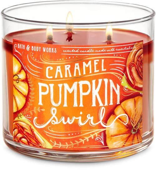 Caramel Pumpkin Swirl 3-Wick Candle