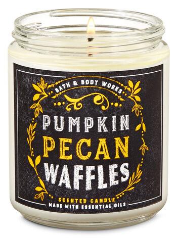 Bath & Body Works Pumpkin Pecan Waffles Single Wick Candle