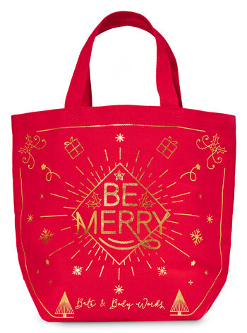 Be Merry Canvas Gift Bag - Bath And Body Works