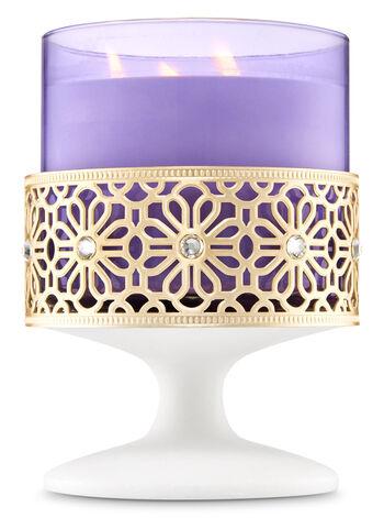 Geometric Rhinestone Pedestal 3-Wick Candle Holder - Bath And Body Works