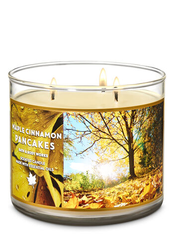 Maple Cinnamon Pancakes 3-Wick Candle - Bath And Body Works
