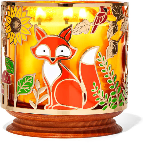Woodland Critters 3-Wick Candle Holder