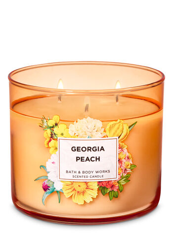 Georgia Peach 3-Wick Candle - Bath And Body Works