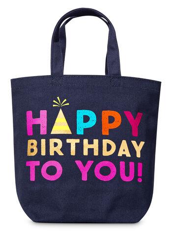 Blue Birthday Canvas Gift Bag - Bath And Body Works