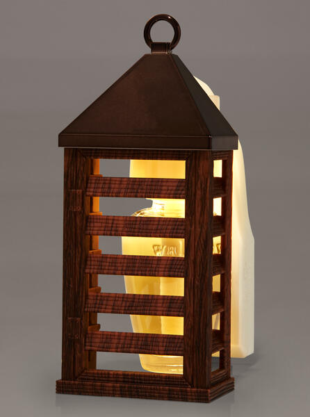 Wood Lantern Nightlight Wallflowers Fragrance Plug