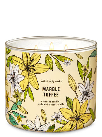 Marble Toffee 3-Wick Candle - Bath And Body Works