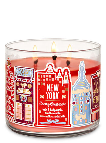 Cherry Cheesecake 3-Wick Candle - Bath And Body Works