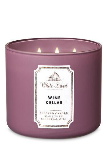 White Barn Wine Cellar 3-Wick Candle - Bath And Body Works