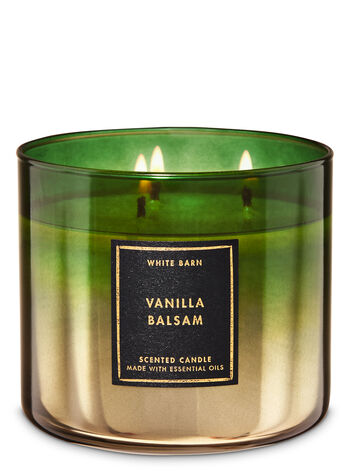 White Barn Vanilla Balsam 3-Wick Candle - Bath And Body Works