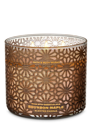 Bourbon Maple 3-Wick Candle - Bath And Body Works