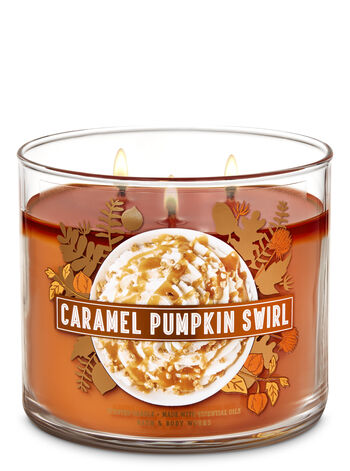 Caramel Pumpkin Swirl 3-Wick Candle - Bath And Body Works