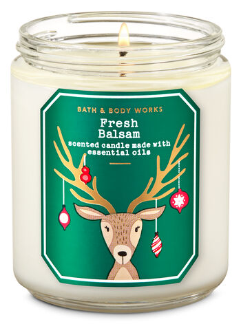Fresh Balsam Single Wick Candle - Bath And Body Works