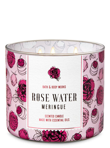 Rose Water Meringue 3-Wick Candle - Bath And Body Works