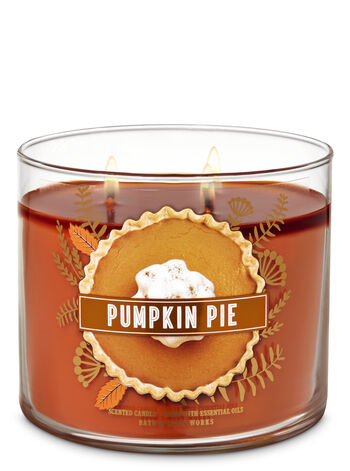 Pumpkin Pie 3-Wick Candle - Bath And Body Works