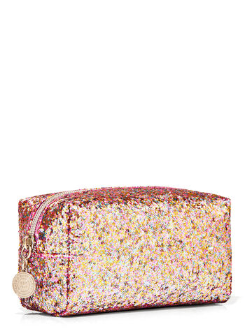 Pink Glitter   Cosmetic Bag