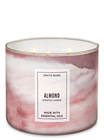 White Barn Almond 3-Wick Candle - Bath And Body Works