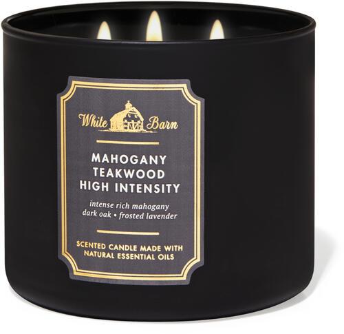 Mahogany Teakwood High Intensity 3-Wick Candle