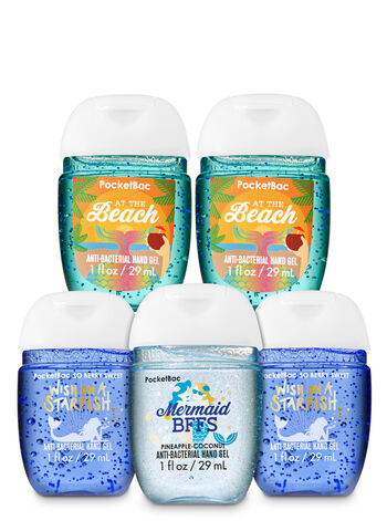 Mermaids PocketBac Hand Sanitizers, 5-Pack - Bath And Body Works