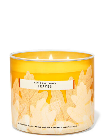 Leaves 3-Wick Candle | Bath & Body Works