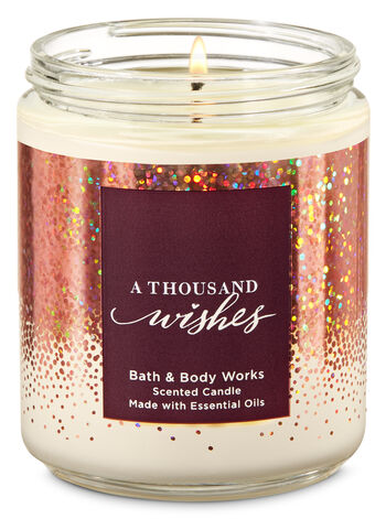 A Thousand Wishes Single Wick Candle - Bath And Body Works