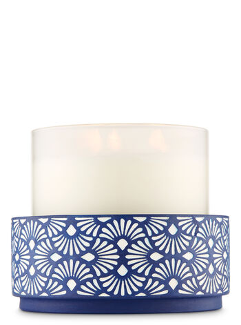 Blue Artistic Resin 3-Wick Candle Holder - Bath And Body Works