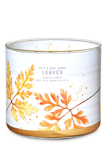 Leaves 3-Wick Candle - Bath And Body Works