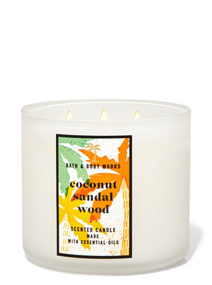 Coconut Sandalwood 3-Wick Candle