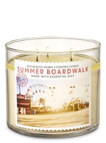 Summer Boardwalk 3-Wick Candle - Bath And Body Works