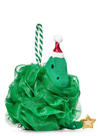 Green Christmas Dino Loofah - Bath And Body Works