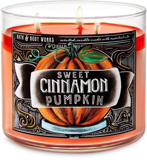 Sweet Cinnamon Pumpkin 3-Wick Candle