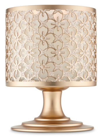 Glittery Gold Pedestal 3-Wick Candle Holder - Bath And Body Works