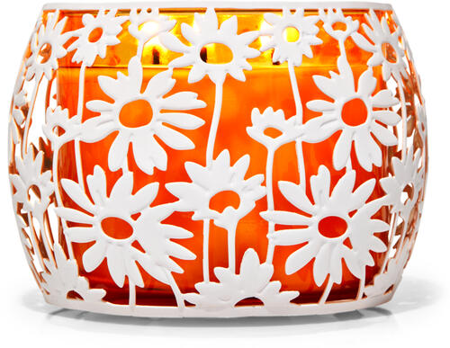 Daisies 3-Wick Candle Holder