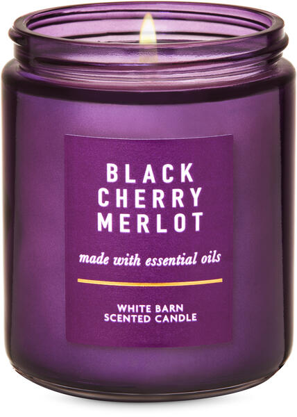 Black Cherry Merlot Single Wick Candle